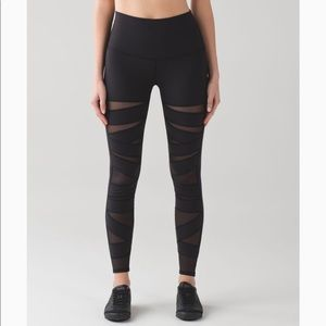 Lululemon Wunder Under High Rise Tech Mesh 6